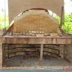 On top of fireplace was built the brick oven.