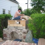 Building a pizza oven in Canada.