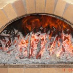 Improper brick oven curing, too big drying fire.