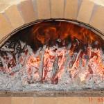 Improper brick oven curing, too big drying fire.