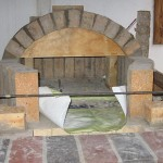 The first arch made from firebricks.