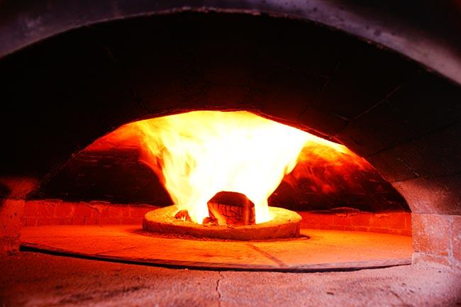 Gas Burner In The Oven S Floor Center
