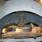 Gas burning pizza oven.