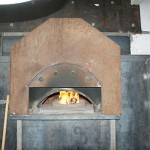 Gas fired pizza oven.