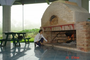 Oven and fireplace in Ilog Maria Honeybee Farm in Philippines.