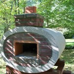 The chimney on my pizza oven is functional now.