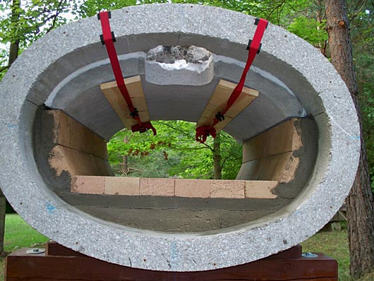 Oven In Elliptical Concrete Drainage Pipe