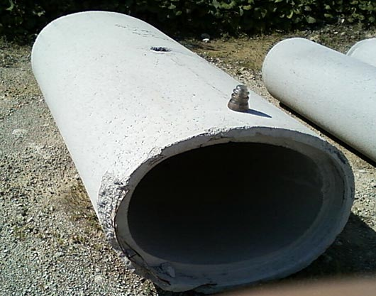 Concrete Drain Pipe : Oven in elliptical concrete drainage pipe