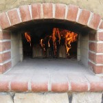 Arched entry on Pompeii pizza oven project.