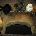 Kitchen with old stone dome oven from 1807