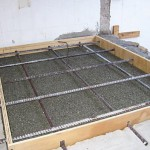 The vermiculite insulation layer.