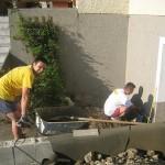 Backofen working on concrete slab.