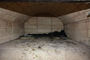 the backofen firebrick dome inside