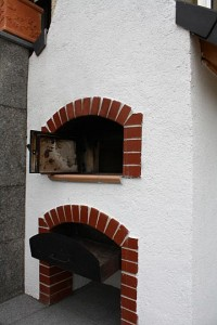 Wood fired family oven built in Austria.