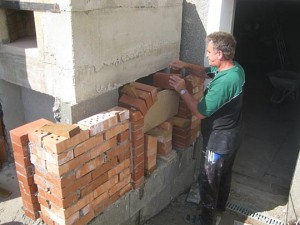 backofen working on brick arch.