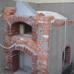 backofen the oven's outer house brick walls