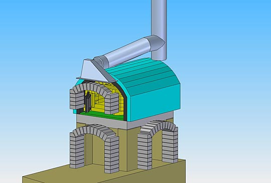 Backofen Rauchfang Auto Cad Chimney And Oven