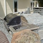 Pizza oven with BBQ both in stones.