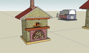 Baking oven sketch made in Sketchup program.