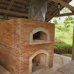 Philippines brick pizza oven.