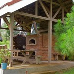 Pizza oven and hut built in Philippines.