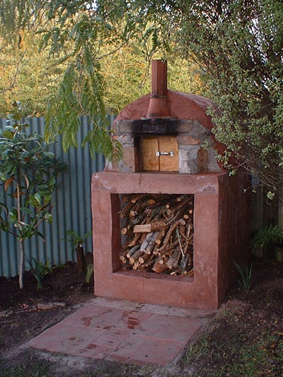 Pizza oven built in New Zealand.