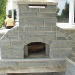 Front of stone oven.