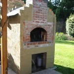 Outdoor wood fired brick oven.