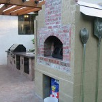 Kitchen and wood fired oven.