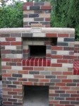 Pizza oven brick-work