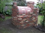 Pizza oven full brickwork