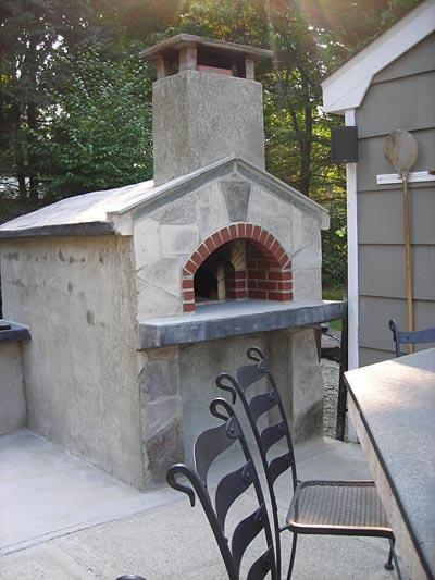 Joe S Oven Concrete Blocks Walls