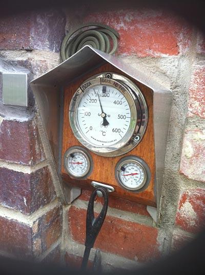Brick Oven With Temperature Gauge