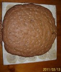 A large choc chip cookie.