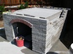 Building backyard pizza oven walls