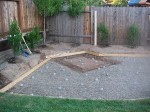 Preparing ground for outdoors kitchen