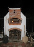 Pizza oven at evening time around in Caribbean Anguilla