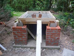 Hearth for cottage oven
