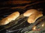 Picture of French breads baked WFO