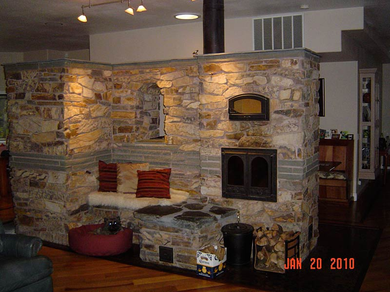 Wood Burning Oven Built Under Roof Cover