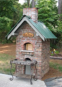 Brick oven built by female Christine