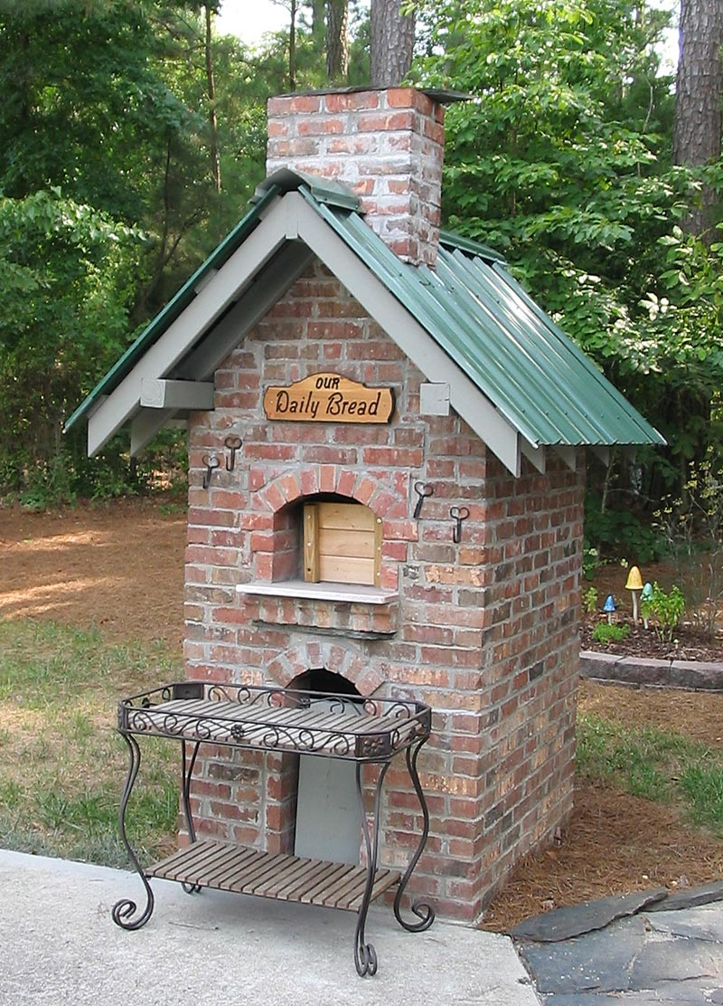 Brick Oven Built By Lady Christine