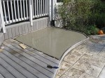 The wooden deck after concrete slab was made