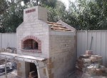 Pizza oven building nearly finished