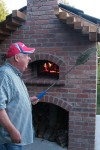 Dennis and Carolyn initially cooked 300 pizzas, self help on the oven.