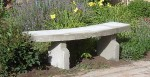 Garden concrete bench for sitting - DIY project, how to make plans.