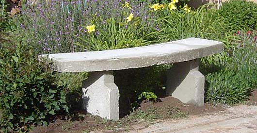 Garden concrete bench for sitting - DIY project, how to make - plans.