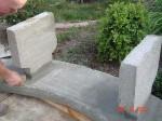 Garden concrete bench diy image 31