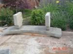 Garden concrete bench diy image 32