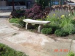 Garden concrete bench finished diy image 33